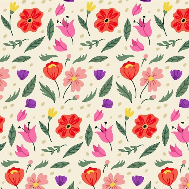 Conceito de coleção de padrão floral Vetor grátis