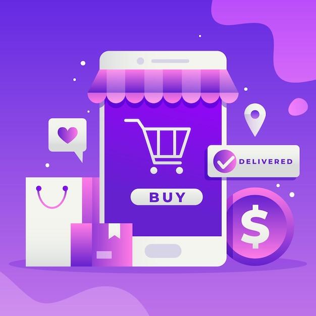 Conceito de compra online Vetor Premium