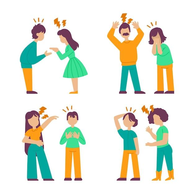 Conceito de conflitos de casal Vetor grátis