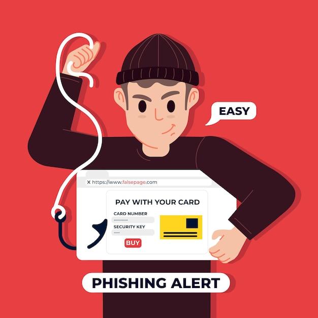 Conceito de conta de phishing Vetor grátis