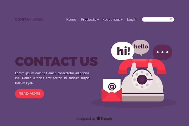 Conceito de contato para a página de destino Vetor grátis