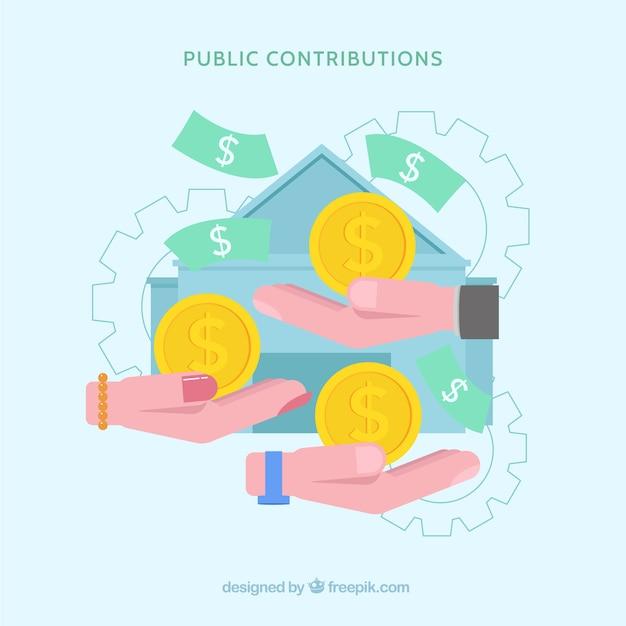 Conceito de contribuição pública Vetor grátis
