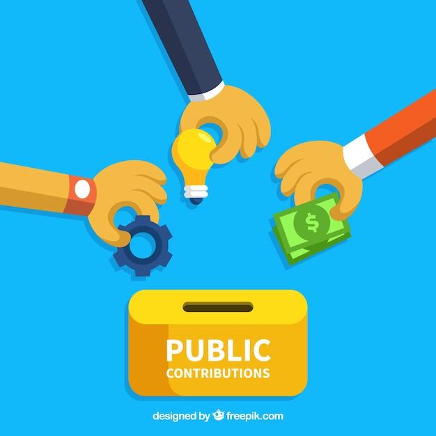 Conceito de contribuições públicas Vetor grátis