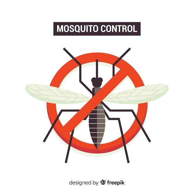 Conceito de controle de mosquito criativo Vetor grátis
