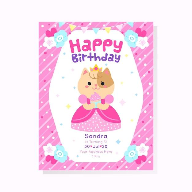 Conceito de convite de aniversário para crianças Vetor grátis