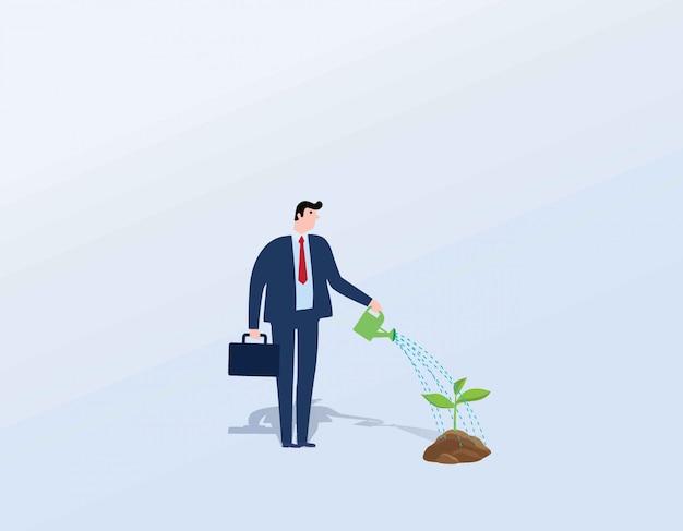 Conceito de crescimento do negócio Vetor Premium