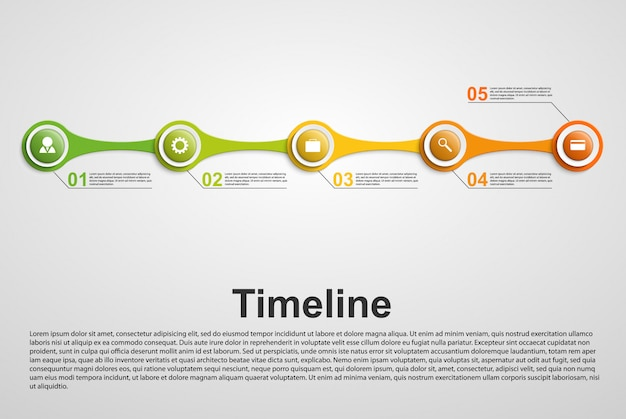 Conceito de cronograma de infográficos. Vetor Premium