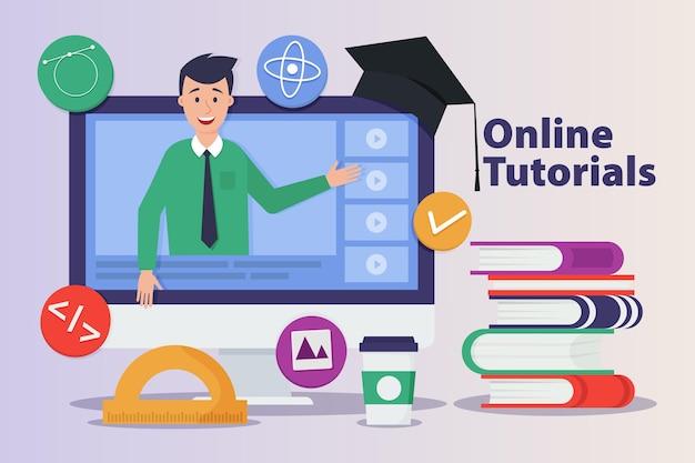 Conceito de cursos on-line Vetor Premium