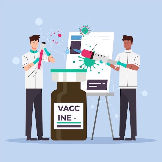 Conceito de desenvolvimento de vacina Vetor grátis