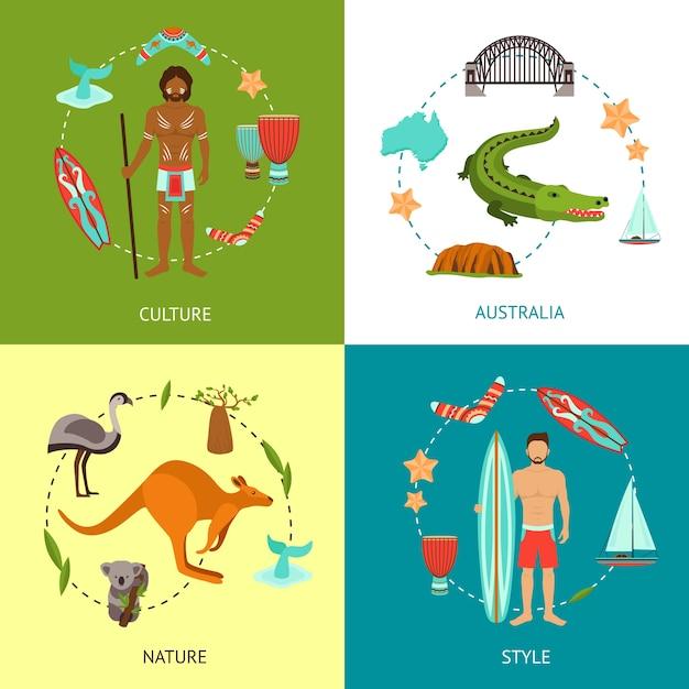 Conceito de design da austrália Vetor grátis