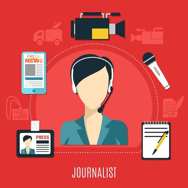 Conceito de design de jornalista Vetor Premium