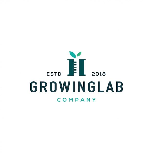 Conceito de design de logotipo de laboratório. logotipo do laboratório universal. Vetor Premium