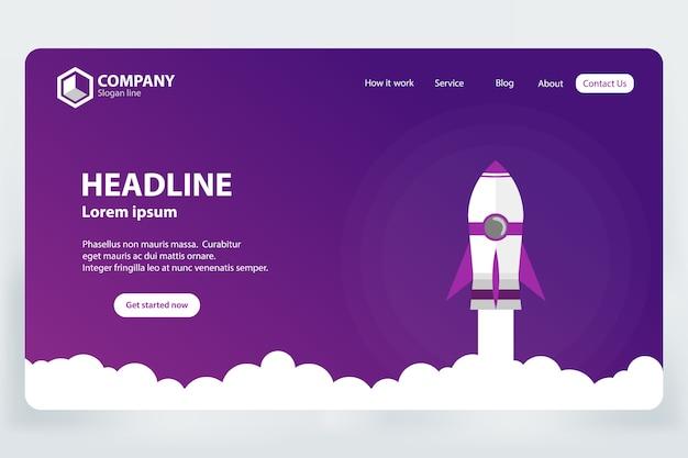 Conceito de design de modelo de vetor de página de aterrissagem de ranking de site Vetor Premium