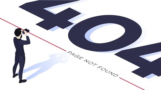 Conceito de design de página de erro 404 Vetor Premium