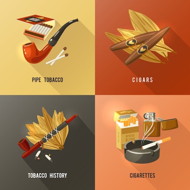 Conceito de design de tabaco Vetor grátis