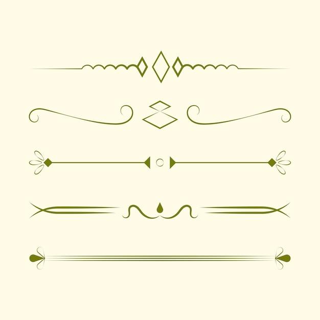 Conceito de design de vetor de coleção de ornamentos Vetor grátis