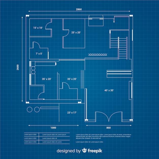 Conceito de design digital de desenho de casa Vetor grátis