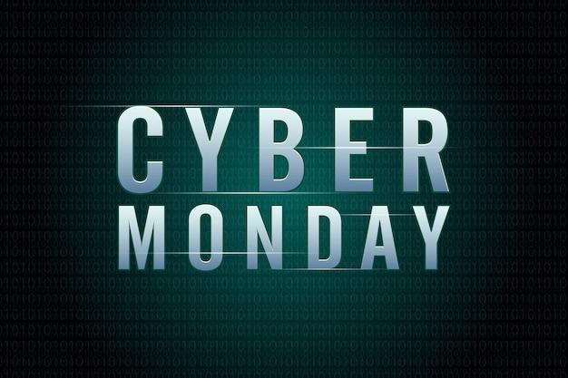 Conceito de design do cyber segunda-feira venda. modelo de design de tendência moderna. Vetor Premium