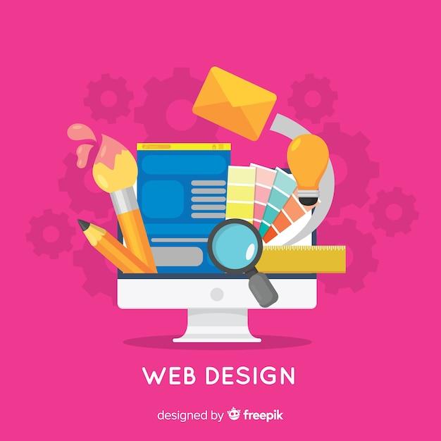 Conceito de design moderno web com estilo simples Vetor grátis