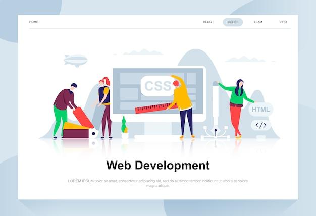 Conceito de design plano moderno de desenvolvimento web. Vetor Premium