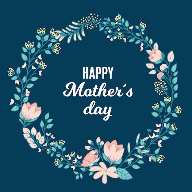 Conceito de dia das mães floral Vetor Premium