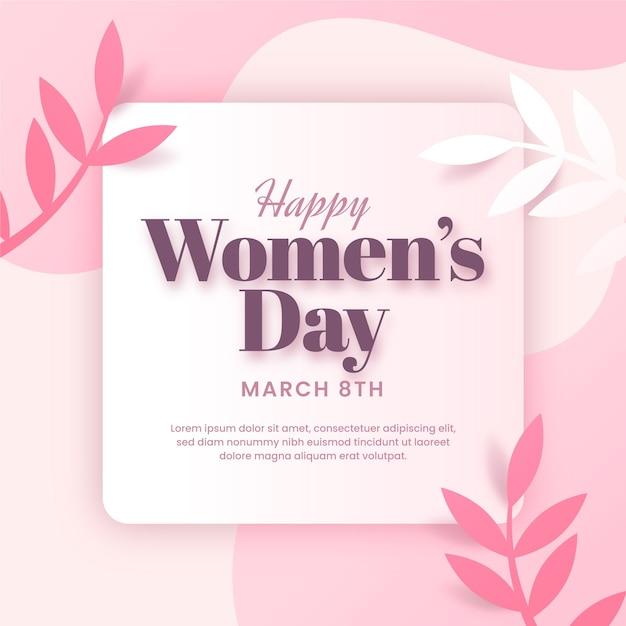 Conceito de dia das mulheres em design plano Vetor Premium