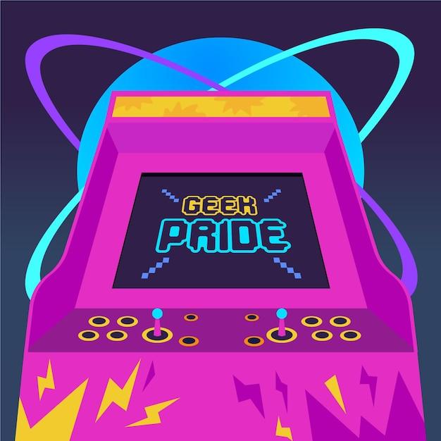 Conceito de dia de orgulho nerd Vetor Premium