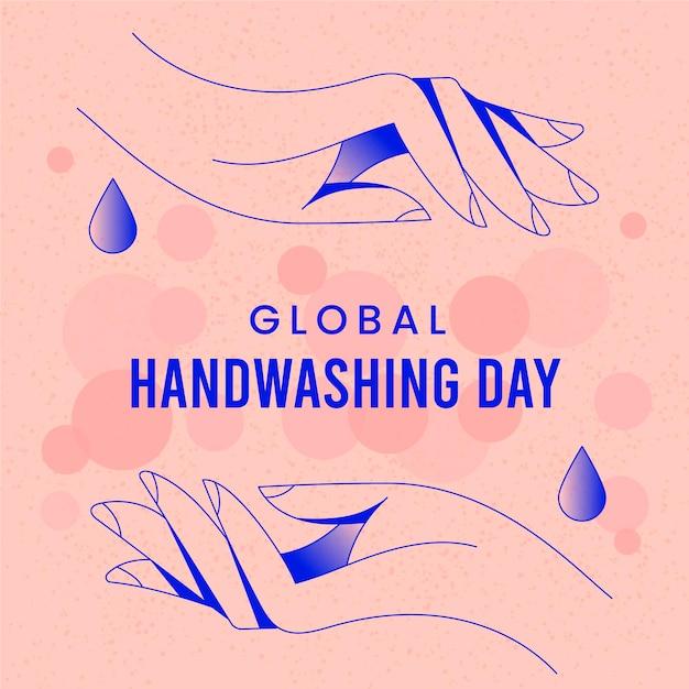 Conceito de dia global de lavagem das mãos Vetor Premium