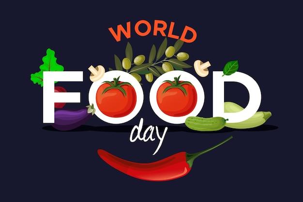 Conceito de dia mundial da comida de design plano Vetor grátis