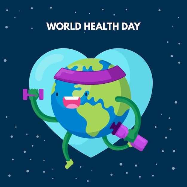 Conceito de dia mundial da saúde design plano Vetor grátis