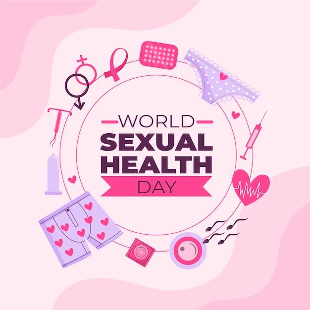 Conceito de dia mundial da saúde sexual Vetor grátis