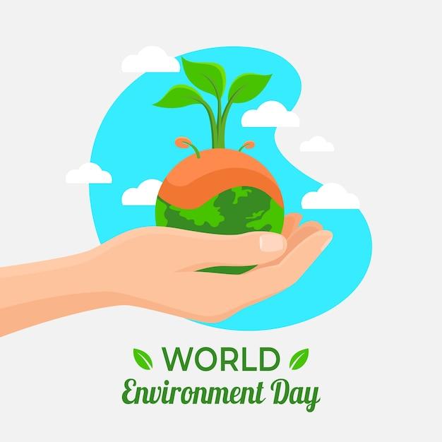 Conceito de dia mundial do ambiente Vetor grátis