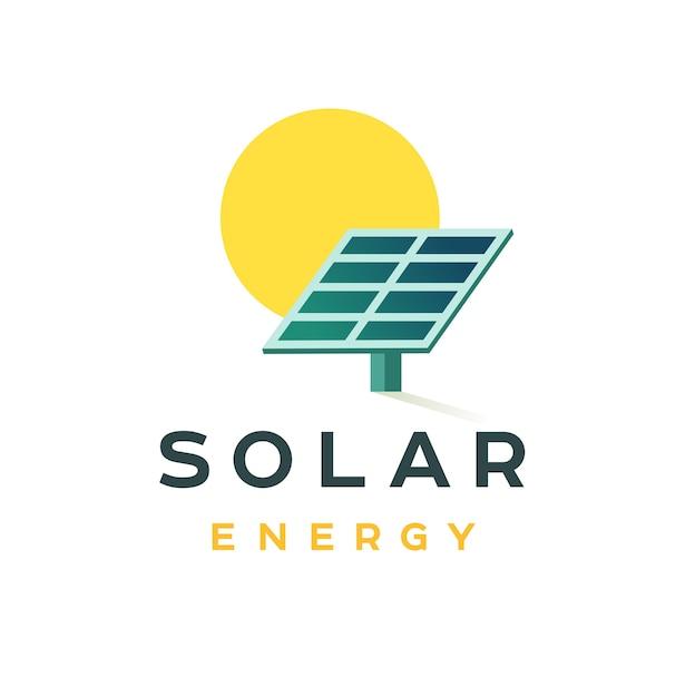 Conceito de distintivo de energia solar Vetor Premium