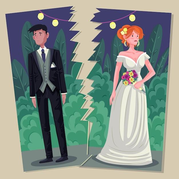 Conceito de divórcio Vetor grátis