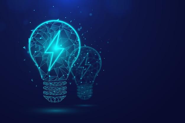 Conceito de ecologia tecnológica com lâmpada Vetor grátis