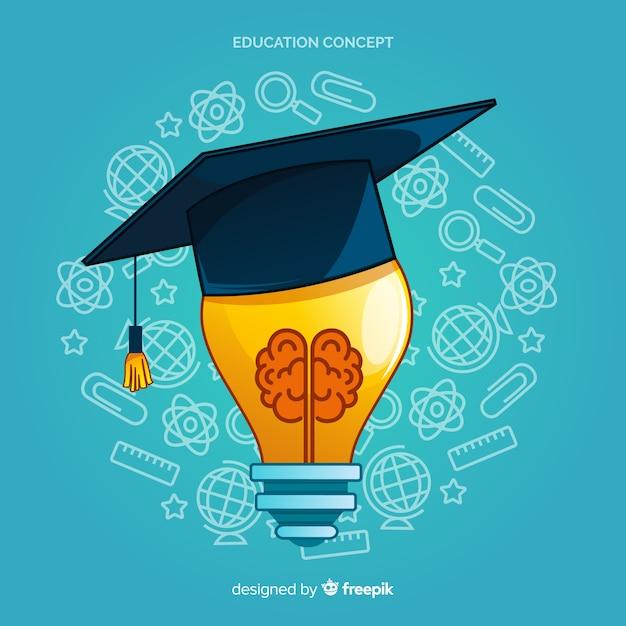 Conceito de educação moderna mão desenhada Vetor grátis