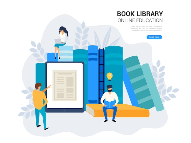 Conceito de educação on-line. Vetor Premium