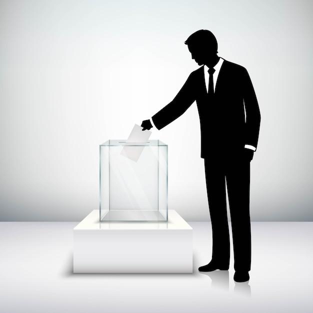 Conceito de eleição de voto Vetor grátis