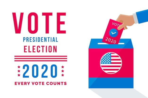 Conceito de eleição presidencial dos eua em 2020 Vetor grátis