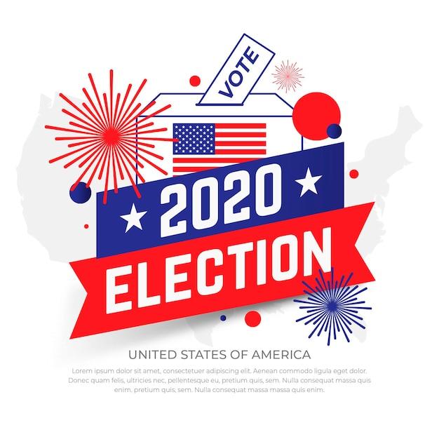 Conceito de eleição presidencial dos eua em 2020 Vetor Premium