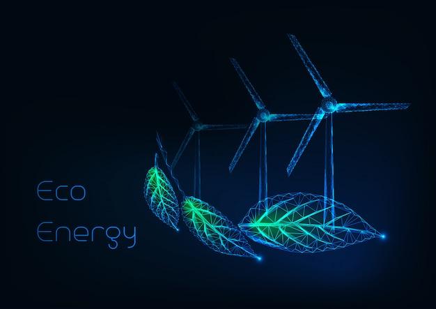 Conceito de energia alternativa eco Vetor Premium