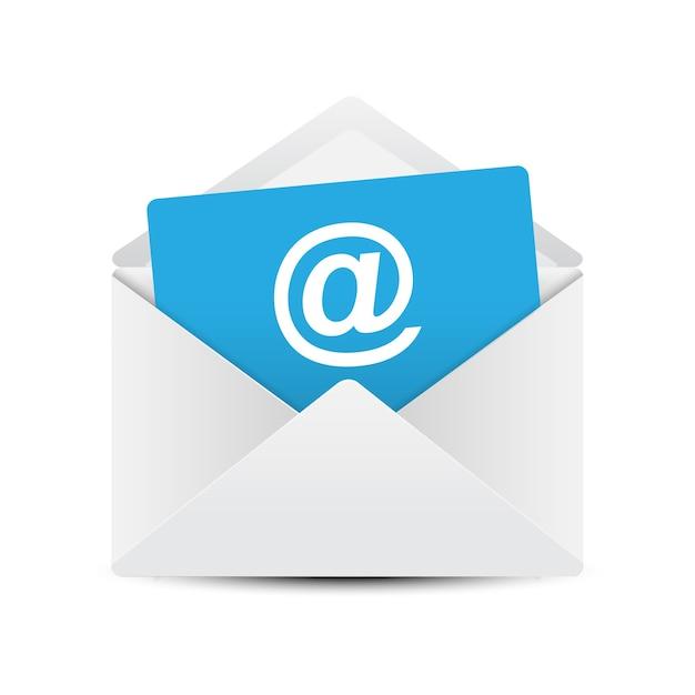 Conceito de envelope de e-mail Vetor Premium