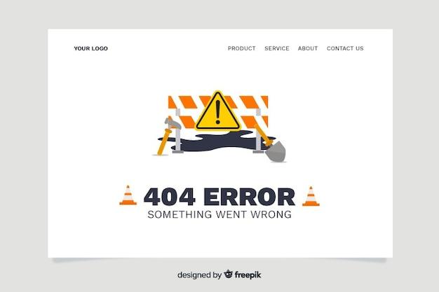 Conceito de erro 404 para a página de destino Vetor grátis
