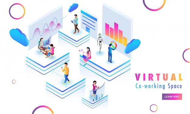 Conceito de espaço de trabalho Vetor Premium