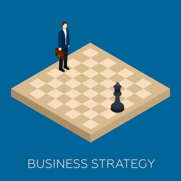 Conceito de estratégia de negócios Vetor Premium