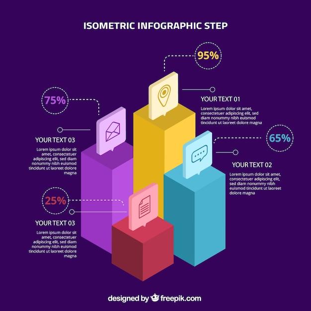 Conceito de etapas de infográfico Vetor grátis