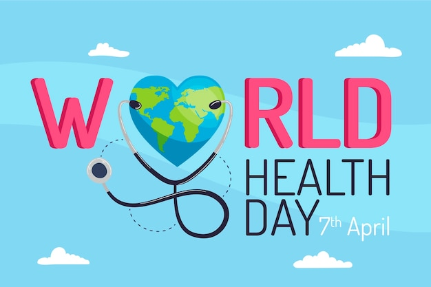 Conceito de evento do dia mundial da saúde plana Vetor grátis