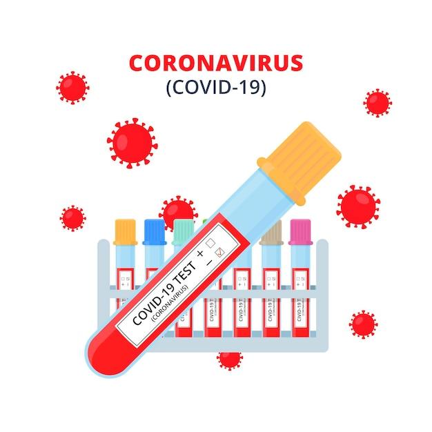 Conceito de exame de sangue de coronavírus Vetor grátis