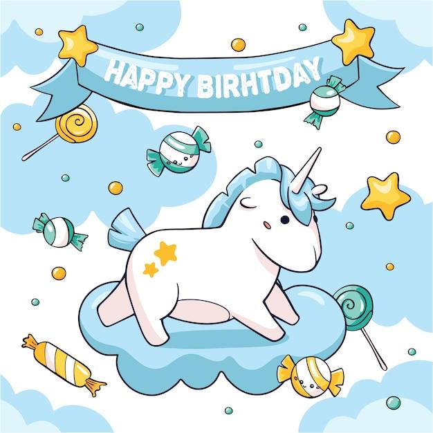 Conceito de fantasia de cartão de aniversário Vetor Premium