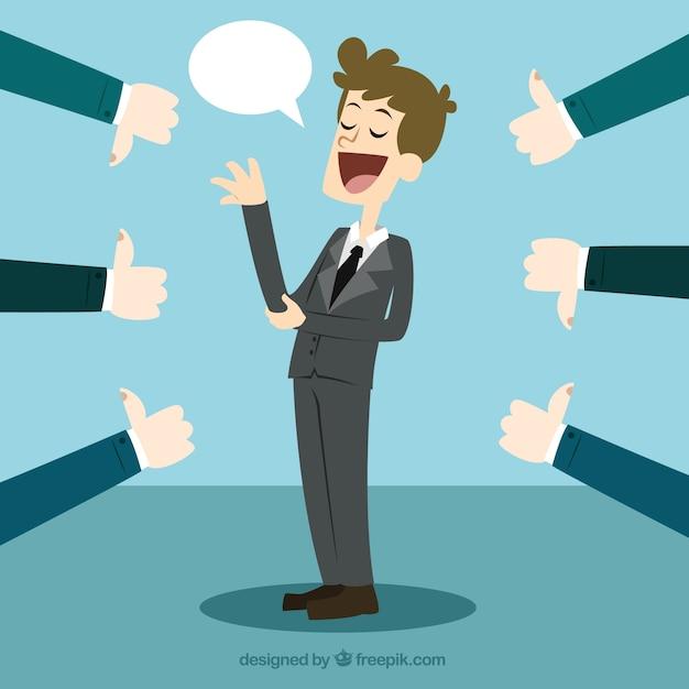 Conceito de feedback das empresas Vetor grátis